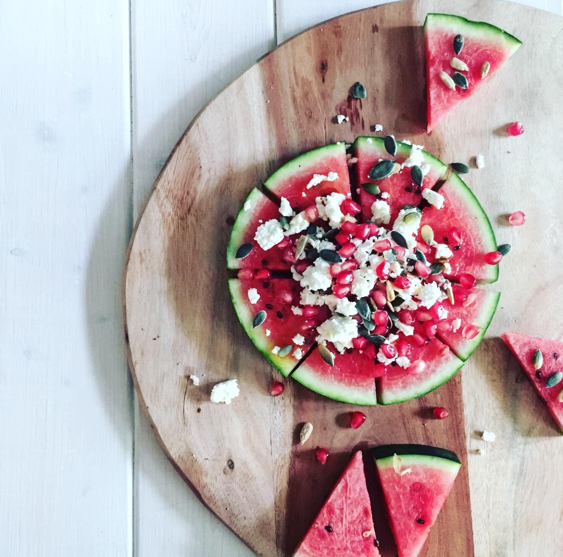 Mama Brown's Watermelon Pizza graphic